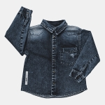 DENIM shirt navy | BOOSO