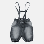 JEANS SUSPENDER shorts black jeans | BOOSO