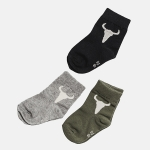 SOCKS BISON 3xpack gray/green/black | BOOSO