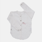 LINEN FAIR PLAY shirt ecru | BOOSO