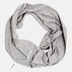 TWISTED TUBE SCARF gray marl | BOOSO